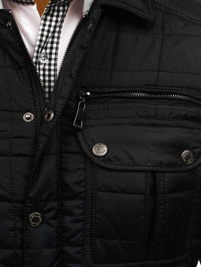 Čierna pánska prechodná bunda BOLF 7668