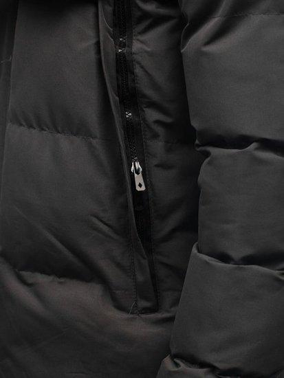 Grafitová pánska zimná bunda BOLF 201821