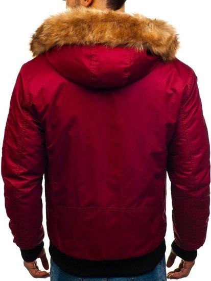 Bordová pánska zimná bunda BOLF 1826