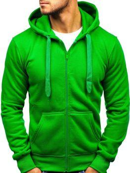 Zelená pánska mikina s kapucňou BOLF AK50A 21874c447ba