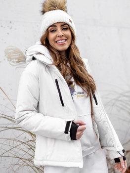 Biela dámska lyžiarská zimná bunda Bolf HH012