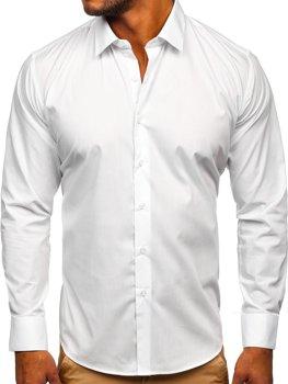 Biela pánska elegantná košeľa s dlhými rukávmi Bolf SM13