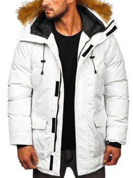 Biela pánska zimná bunda parka Bolf 1173