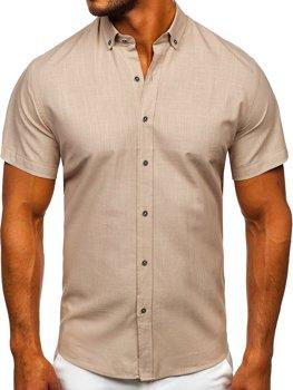 Blankytná pánska košeľa s krátkymi rukávmi Bolf 20501