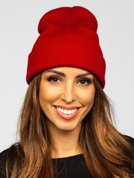 Bordová dámska zimná čiapka Bolf YW09004