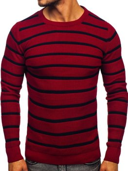 Bordový pánsky sveter Bolf 4356