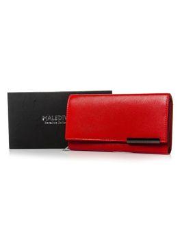 Červená dámska kožená peňaženka 2689