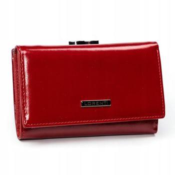Červená dámska kožená peňaženka 2907