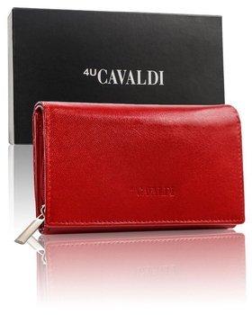 Červená dámska kožená peňaženka 9533