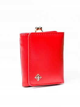 Červená dámska koženková peňaženka 3003