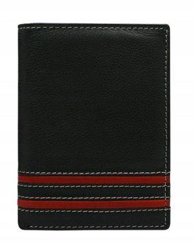 Červená pánska kožená peňaženka  590