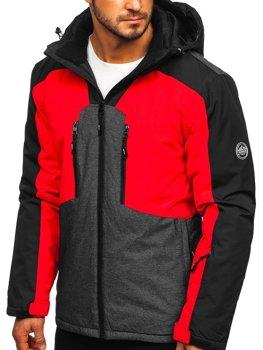 Červená pánska lyžiarská bunda Bolf 1340