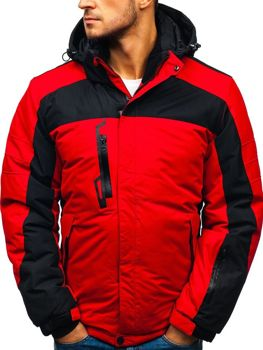 Červená pánska lyžiarska zimná bunda BOLF HZ8112
