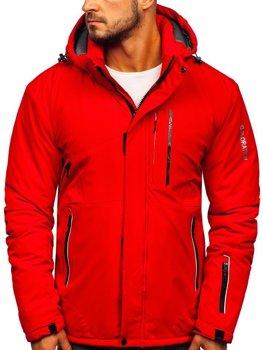 Červená pánska lyžiarská zimná bunda Bolf 1910