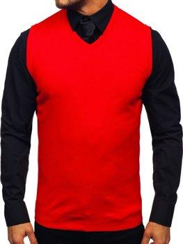 Červená pánska pletená vesta Bolf 2500
