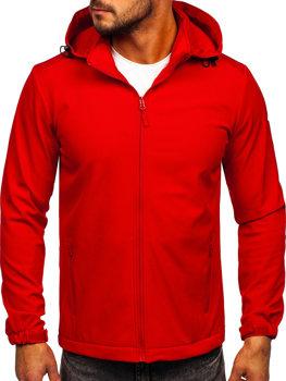 Červená pánska softshellová prechodná bunda Bolf HH017