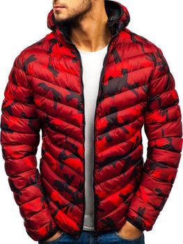 Červená pánska športová prechodná bunda BOLF SM30