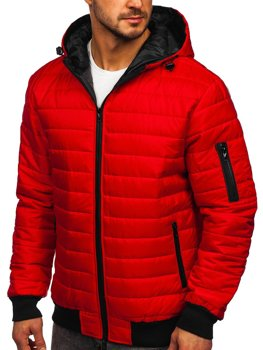 Červená pánska športová prechodná bunda Bolf MY13