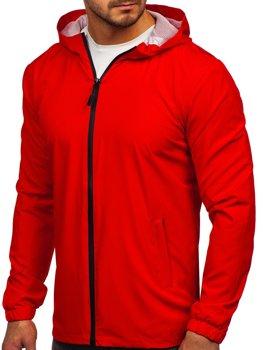 Červená pánska športová vetrovková bunda Bolf HH035