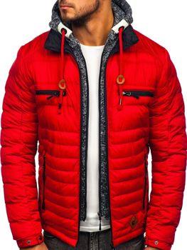 Červená pánska športová zimná bunda Bolf 50A93