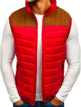 Červená pánska vesta bez kapucne BOLF 5173 5890a399464