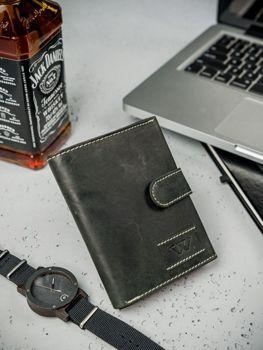 Čierna pánska kožená peňaženka  3178