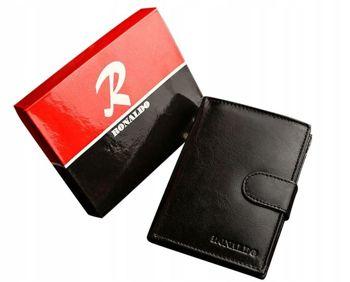 Čierna pánska kožená peňaženka 601