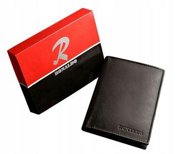 Čierna pánska kožená  peňaženka 612