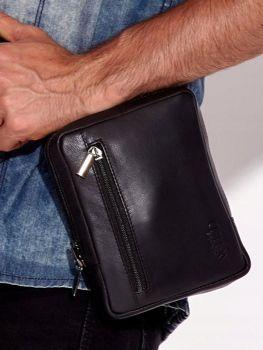 Čierna pánska kožená taška 3014