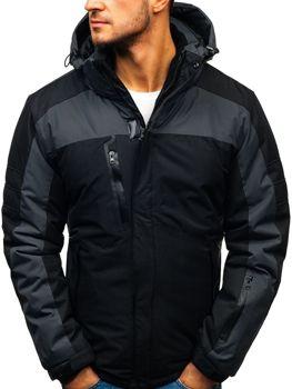 Čierna pánska lyžiarska zimná bunda BOLF HZ8112 c48594d8acb
