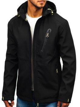 Čierna pánska sofshellová prechodná bunda BOLF 5425