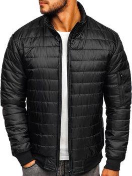 Čierna pánska športová prechodná bunda Bolf MY22