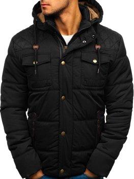 Čierna pánska zimná bunda BOLF 1665