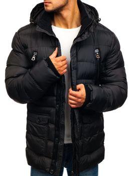 Čierna pánska zimná bunda BOLF 48884