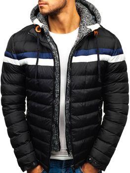 Čierna pánska zimná bunda BOLF A181