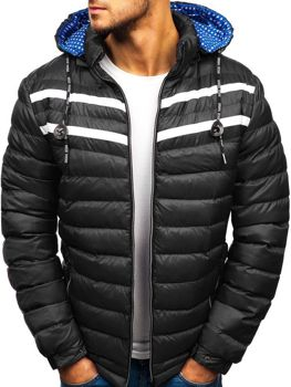 Čierna pánska zimná bunda BOLF A211