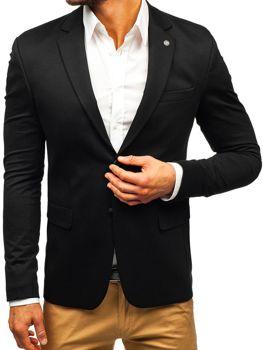 e1ce01d96 Čierne pánske elegantné sako BOLF 191060