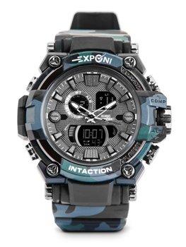 Čierne pánske hodinky s maskáčovým vzorom Bolf 3258