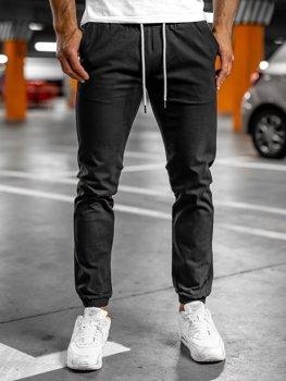 Čierne pánske jogger nohavice Bolf 1145