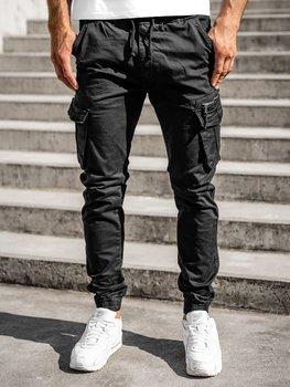 Čierne pánske kapsáčové joggery Bolf 8978