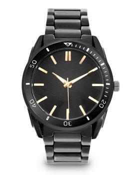 Čierne pánske oceľové hodinky Bolf 5690