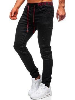 Čierne pánske rifľové jogger nohavice Bolf 60024W0
