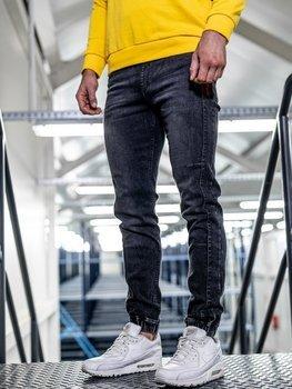 Čierne pánske rifľové joggery Bolf HY562