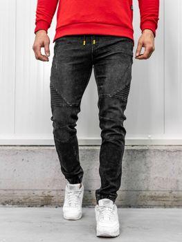 Čierne pánske rifľové joggery Bolf HY621