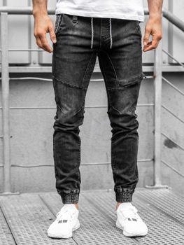Čierne pánske rifľové joggery Bolf KA762