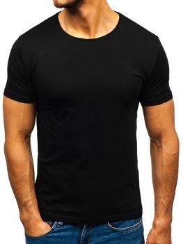 Čierne pánske tričko bez potlače BOLF 9001-1