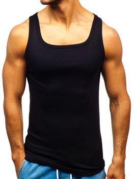 b66da23728b35 Čierne pánske tričko bez potlače BOLF C10048