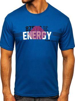 Čierne pánske tričko s potlačou Bolf 14333