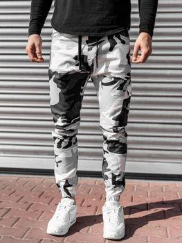 Čierno-biele pánske jogger nohavice Bolf 11104