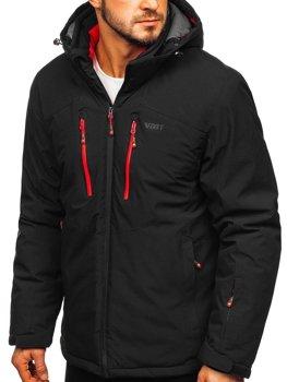 Čierno-červená pánska lyžiarska bunda Bolf BK193